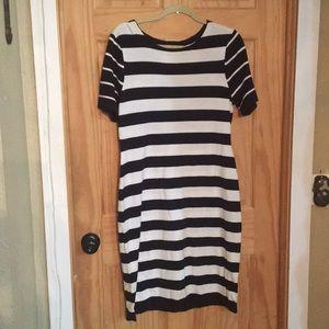 NEW Alex Marie Stephanie striped midi dress